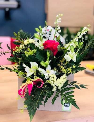 Lettre Fleurie Porte-Bonheur - Les Bouquetiers - Fleuriste