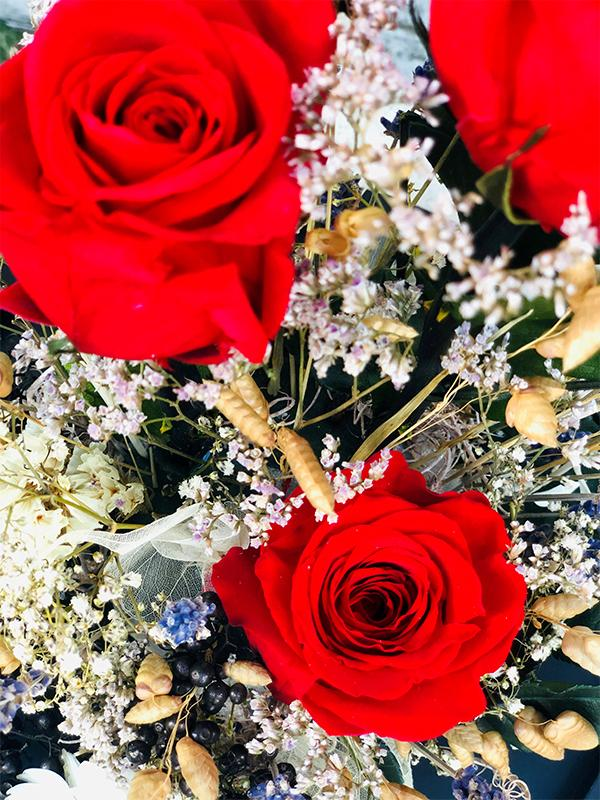 Rose éternelle Grande composition