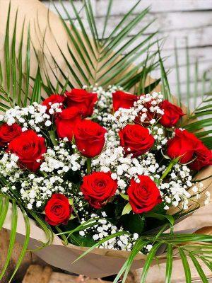 Bouquet de roses rouges - Les Bouquetiers - Fleuriste
