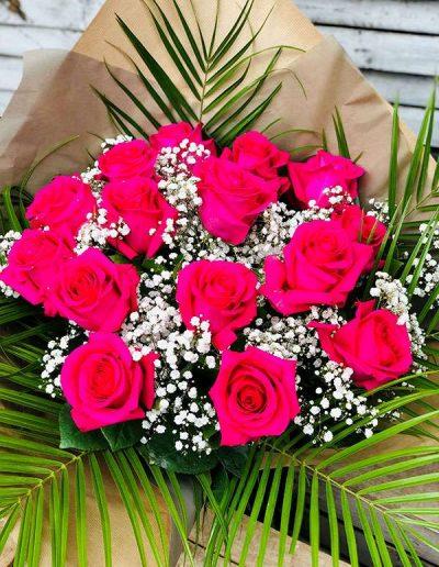 Bouquet de roses roses - Les Bouquetiers - Fleuriste